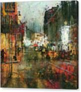 Street Night Light Canvas Print