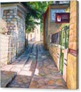 Street Of Artists Canvas Print