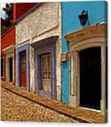 Street Of Color Guanajuato 1 Canvas Print