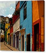 Street Of Color Guanajuato 3 Canvas Print