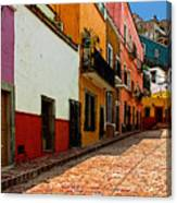 Street Of Color Guanajuato 5 Canvas Print