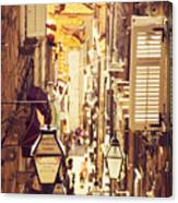 Street Of Dubrovnik Old Town Canvas Print