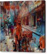 Street Of Nepal Colored  Canvas Print