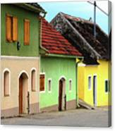 Street Of Wine Cellar Houses  Canvas Print