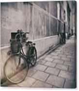 Street Photo Bicycle Canvas Print