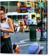 Street Photography Nyc Paint  Canvas Print