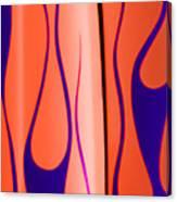 Street Rod Design In Orange And Blue Canvas Print