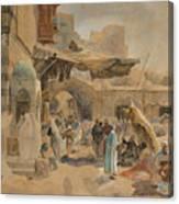 Street Scene In Jaffa Canvas Print