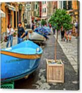 Street Scene Manarola Italy Dsc02634 Canvas Print