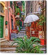 Street Scene Monterosso Italy Dsc02470 Canvas Print