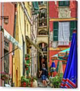 Street Scene Vernazza Italy Dsc02651 Canvas Print