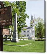 Street Sign In Fitzwilliam, New Hampshire Canvas Print