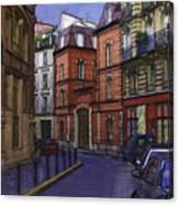Street View Of Paris Canvas Print