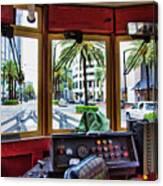 Streetcar Interior New Orleans  Canvas Print