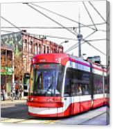 Streetcar On Spadina Avenue #17 Canvas Print