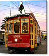 Streetcar Sunset Canvas Print