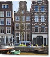Streets And Channels Of Amsterdam Canvas Print