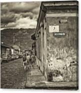 Streets Of Antigua - Guatemala Canvas Print