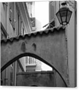Streets Of Cannes 2 In Black And White Canvas Print