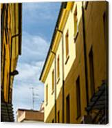 Streets Of Cesena 7 Canvas Print