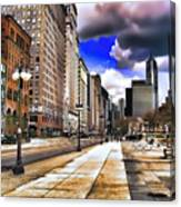 Streets Of Chicago Canvas Print