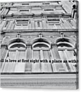 Streets Of London Quote Canvas Print