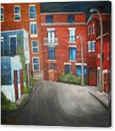 Streets Of Montreal  Joly Canvas Print