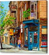 Streets Of Montreal Over 500 Prints Available By Montreal Cityscene Specialist Carole Spandau Canvas Print