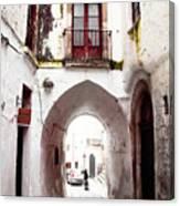 Streets Of Ostuni Canvas Print