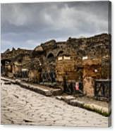 Streets Of Pompeii - 1a Canvas Print