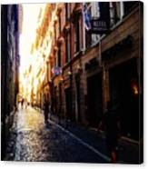 Streets Of Rome 2 Canvas Print