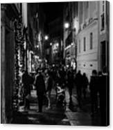 Streets Of Rome At Night  Canvas Print