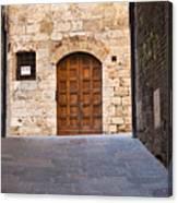 Streets Of San Gimignano Canvas Print