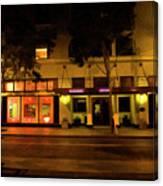 Streets Of San Jose, Ca Midnight Canvas Print