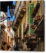 Streets Of Siracusa Canvas Print