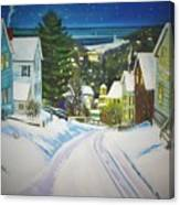 Streets Of Snow Canvas Print