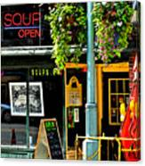 Streetscape 1 Soup Canvas Print