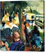 Streetside Cafe Canvas Print
