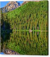String Lake Morning Mirror Canvas Print