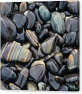 Striped Pebbles Canvas Print