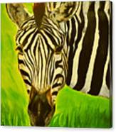 Stripes In Africa Canvas Print