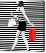 Stripes In Fashion Canvas Print