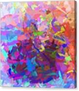 Strips Of Pretty Colors Abstract Canvas Print