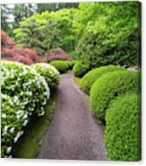 Stroling Garden Path In Japanese Garden Canvas Print