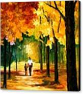 Stroll In The Forest Canvas Print