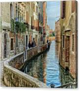 Stroll The Canal Canvas Print