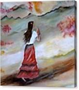 Strollin Senorita Canvas Print