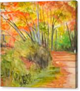 Strolling Along The Canal Canvas Print