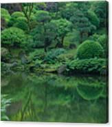 Strolling Pond Serenity Canvas Print
