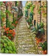 Strolling Spello, Italy Canvas Print